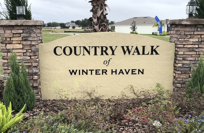 Country Walk of Winter Haven Community Sign