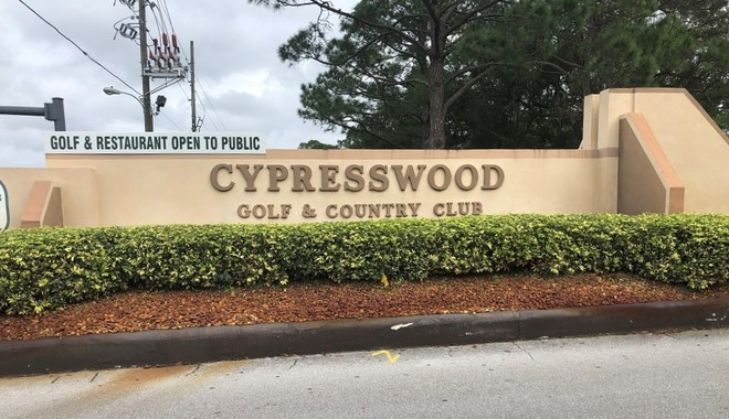 Cypresswood Golf and Country Club Community Sign